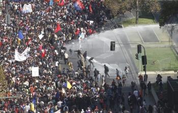 Şili'de öğrenciler kaldığı yerden
