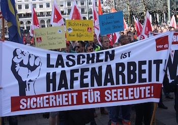 Hamburg: Tersane işçilerinin eylemleri sürüyor