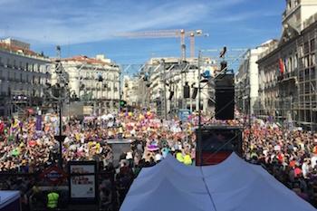 İspanya'da yolsuzluk karşıtı gösteri