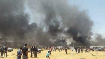 Tunus'ta karakol ateşe verildi