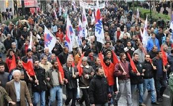 Yunanistan'da genel grev günü