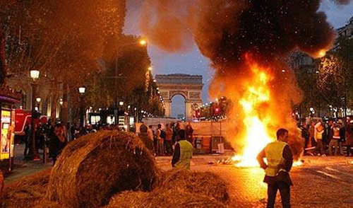 paris çiftçi protestosu