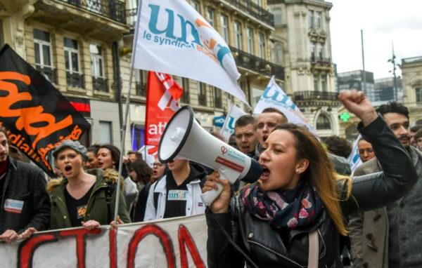 fransa öğrenci protestosu