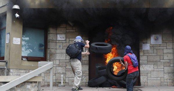 honduras grev protesto